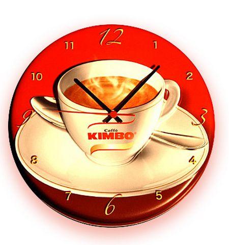 affichage publicitaire - horloge en plastique thermoformé avec motif de tasse à café
